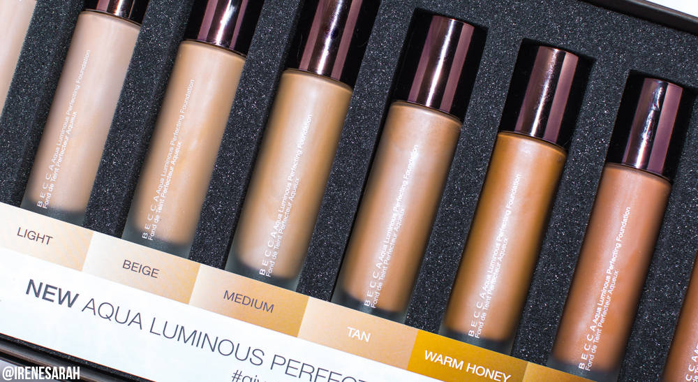 BECCA Aqua Luminous Perfecting Foundation | Review & Swatches