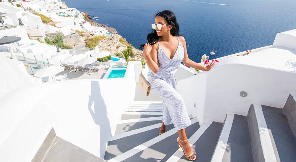 Seeing Stripes | Santorini OOTD